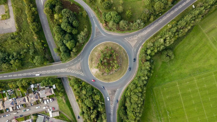 Metisplan traffic roundabout